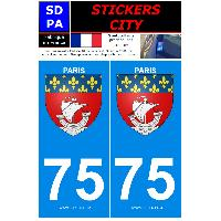 Adhesifs & Stickers 2 autocollants City 75
