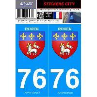 Adhesifs & Stickers 2 autocollants City 76