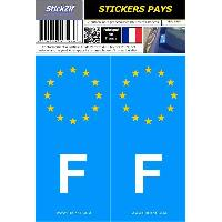 Adhesifs & Stickers 2 autocollants Pays Europe FRANCE