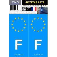 Adhesifs & Stickers 2 autocollants Pays Europe FRANCE Stickzif