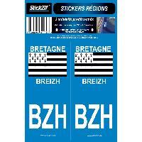 Adhesifs & Stickers 2 autocollants Region Bretagne