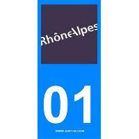 Adhesifs & Stickers 2 autocollants Region Departement 01