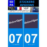 Adhesifs & Stickers 2 autocollants Region Departement 07