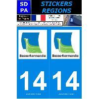 Adhesifs & Stickers 2 autocollants Region Departement 14