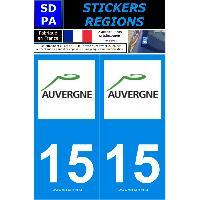 Adhesifs & Stickers 2 autocollants Region Departement 15