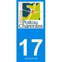 Adhesifs & Stickers 2 autocollants Region Departement 17