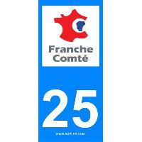 Adhesifs & Stickers 2 autocollants Region Departement 25
