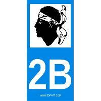 Adhesifs & Stickers 2 autocollants Region Departement 2B