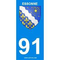 Adhesifs & Stickers 2 autocollants Region Departement 91 version 2