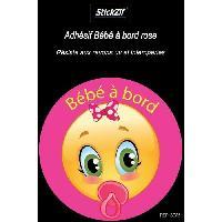 Adhesifs & Stickers Adhesif Bebe a Bord Rose SCA5