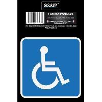 Adhesifs & Stickers HANDICAPE Adhesif pre-decoupe Dimension 8.5 x 8.5 cm Resistant