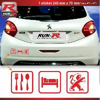 Adhesifs & Stickers Sticker EAT SLEEP PEUGEOT pour 208 207 206 rouge
