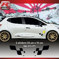 Adhesifs & Stickers Sticker RENAULT SPORT damier pour Clio Megane Twingo - Noir - Run-R Stickers