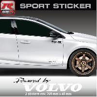 Adhesifs & Stickers Sticker RUN-R PW14NB Powered by VOLVO - Noir Blanc 300x45mm - Run-R Stickers
