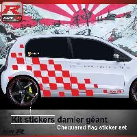 Adhesifs & Stickers Sticker bas de caisse 004R Rallye VW UP - Rouge
