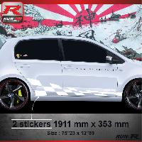Adhesifs & Stickers Sticker bas de caisse 007B GTRS Vw UP - Blanc