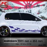 Adhesifs & Stickers Sticker bas de caisse 007M GTRS Vw UP - Marine