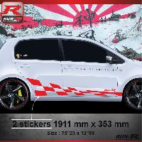 Adhesifs & Stickers Sticker bas de caisse 007R GTRS Vw UP - Rouge
