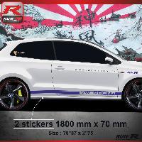 Adhesifs & Stickers Sticker bas de caisse 012M CUSTOM VW POLO 6R - Marine