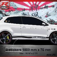 Adhesifs & Stickers Sticker bas de caisse 012N CUSTOM VW POLO 6R - Noir