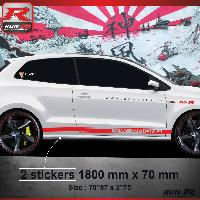 Adhesifs & Stickers Sticker bas de caisse 012R CUSTOM VW POLO 6R - Rouge