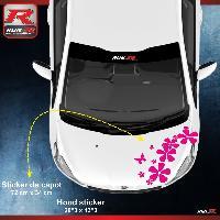Adhesifs & Stickers Sticker capot pour PEUGEOT 208 207 et 206 - Fleurs - ROSE