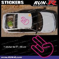 Adhesifs & Stickers Sticker de toit JDM 83 cm rose mat Japan Domestic Market pour Honda Nissan Toyota Subaru Mazda