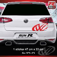 Adhesifs & Stickers Sticker pour coffre arriere pour VW GOLF aufkleber - Rouge Run-R Stickers