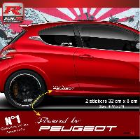 Adhesifs & Stickers Stickers 00ACB Powered by pour Peugeot 32x8cm - Blanc Run-R Stickers