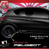 Adhesifs & Stickers Stickers 00ACRB Powered by pour Peugeot 32x8cm - Rouge Blanc Run-R Stickers