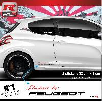 Adhesifs & Stickers Stickers 00ACRN Powered by pour Peugeot 32x8cm - Rouge Noir Run-R Stickers