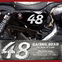 Adhesifs & Stickers Stickers IMP002 Harley Davidson Sportster 48 BLANC