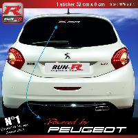 Adhesifs & Stickers Stickers Vitre 00AU Powered by pour Peugeot 32x8cm - Rouge Blanc Run-R Stickers