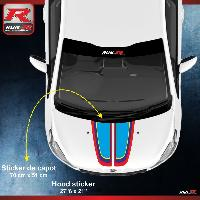 Adhesifs & Stickers Stickers capot 00AS PEUGEOT Sport pour 208 207 Run-R Stickers