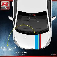 Adhesifs & Stickers Stickers capot 00AT PEUGEOT Sport pour 208 207 Run-R Stickers