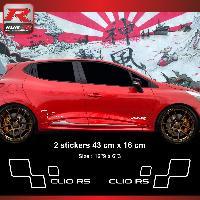 Adhesifs & Stickers Sticker style RENAULT SPORT CLIO RS Blanc - Run-R Stickers