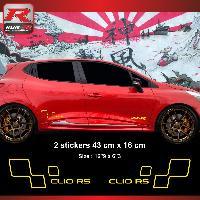 Adhesifs & Stickers Sticker style RENAULT SPORT CLIO RS Jaune - Run-R Stickers