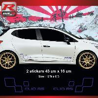 Adhesifs & Stickers Sticker style RENAULT SPORT CLIO RS Marine
