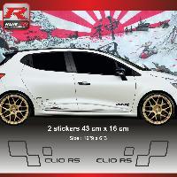 Adhesifs & Stickers Sticker style RENAULT SPORT CLIO RS Noir Run-R Stickers