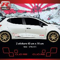 Adhesifs & Stickers Sticker style RENAULT SPORT CLIO RS Rouge