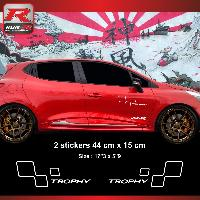 Adhesifs & Stickers Sticker style RENAULT SPORT TROPHY compatible avec Clio et Megane Blanc