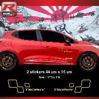 Adhesifs & Stickers Sticker style RENAULT SPORT TROPHY pour Clio et Megane Jaune - Run-R Stickers