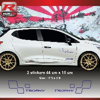 Adhesifs & Stickers Sticker style RENAULT SPORT TROPHY pour Clio et Megane Marine - Run-R Stickers