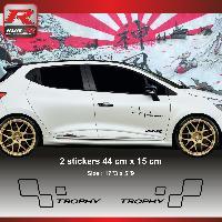 Adhesifs & Stickers Sticker style RENAULT SPORT TROPHY pour Clio et Megane Noir Run-R Stickers