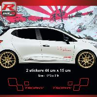 Adhesifs & Stickers Sticker style RENAULT SPORT TROPHY pour Clio et Megane Rouge - Run-R Stickers