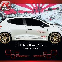 Adhesifs & Stickers Sticker style SPORT TROPHY compatible avec Renault Clio et Megane - Rouge