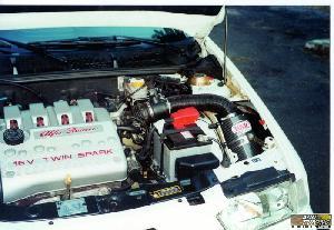 Adm 145 Boite a Air Carbone Dynamique CDA compatible avec Alfa Romeo 145 1.6 TS 16V de 96 a 01