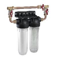 Adoucisseur D'eau - Cartouche D'adoucisseur D'eau - Ioniseur D'eau CPED Filtre duplex Pilotephos 3 en 1 antitartre. corrosion et impuretes avec by pass integre