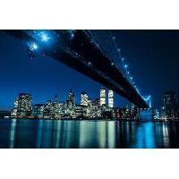 Affiche Affiche papier - Brooklyn Bridge at Night - Silberman - 60x80 cm - MID