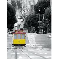 Affiche Affiche papier - Cablecar in San Francisco - Prisma - 60x80 cm - MID